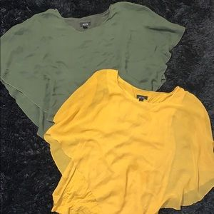 Bundle of 2 ALYX flowy Shaw shirts